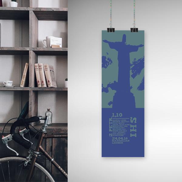 Banner Christo Redemptor Bibelspruch Personalisiertes Geschenk Zur