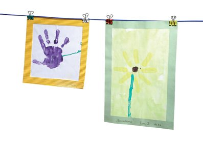 Foldback Klammern Aufhängen Banner Bilder